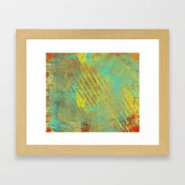 Shredded Sky Abstract Framed Art Print