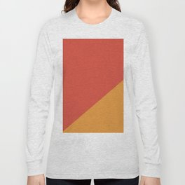 Warm Red & Orange - oblique Long Sleeve T-shirt