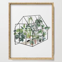 greenhouse with plants Serving Tray