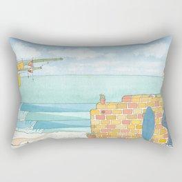 Beach in my Backyard - watercolour print 2 Rectangular Pillow