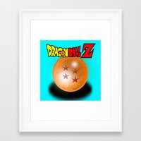dragonball z Framed Art Prints featuring Dragonball Z, 4 star by Metalot