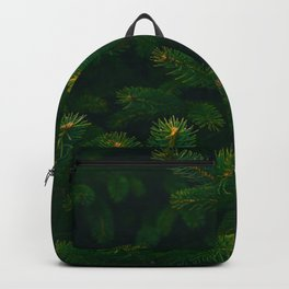 Close Up Of Evergreen Pine Leaves Backpack