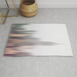 Abstract New City Skyline Motion Blur Rug