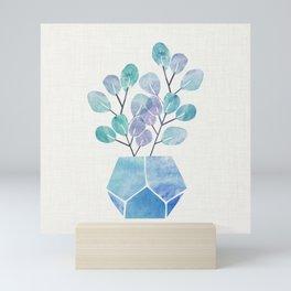 Blue Bonsai - Potted Plant Mini Art Print