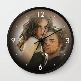 Kristen Stewart & Robert Pattinson - Oil Paint Art Wall Clock