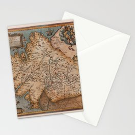 Map Of Spain 1606 Stationery Cards