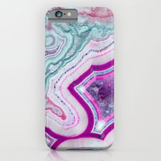 Cotton Candy Agate Slice iPhone 6 Slim Case