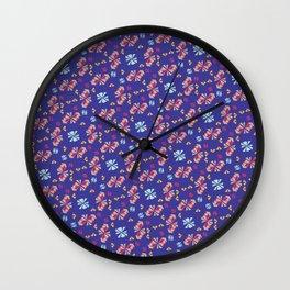 Caballito Flor Wall Clock