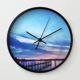 bayside view Wall Clock