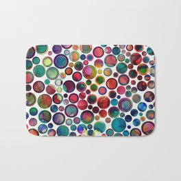 Dots on Painted Background 2 Bath Mat