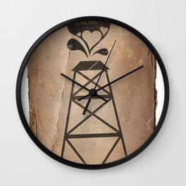 i fracking love you Wall Clock