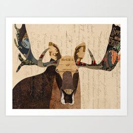 Moose Collage Art Print