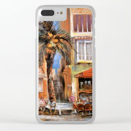 Outdoor cafes Clear iPhone Case