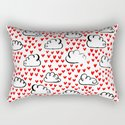 Heart Rain watercolor ink pattern basic minimal love valentines day gifts by charlottewinter