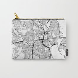 Providence Map, USA - Black and White Carry-All Pouch