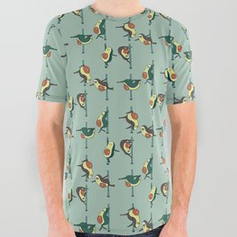 Avocados Pole Dancing Club All Over Graphic Tee