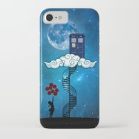 banksy iPhone & iPod Cases featuring Tardis Stair banksy ballons Girl by neutrone