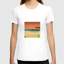 """Digital Abstract Landscape """"Minnesota Memories"""" T-shirt"""