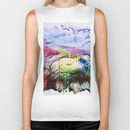 abstract composition of red and blue colours . artwork Biker Tank