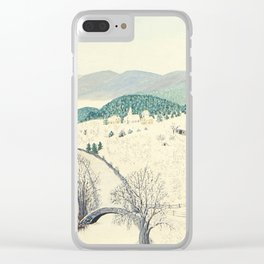 Anna Mary Robertson 'Grandma' Moses To Grandma's House We Go on Thanksgiving Day Folk Art Clear iPhone Case