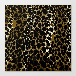 Animal Print Pattern Black and Brown Canvas Print