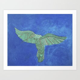 Sacred Hummingbird Art Print