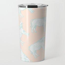 African Animals - Buffalo Peach Travel Mug