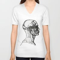 anatomy V-neck T-shirts featuring Anatomy  by Cjillustrations