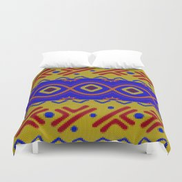 Ethnic African Knitted style design Duvet Cover