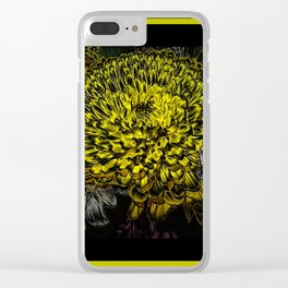 Black yellow art Clear iPhone Case