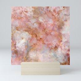 Beautiful & Dreamy Rose Gold Marble Mini Art Print