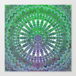 Spring Mandala Wheel Canvas Print