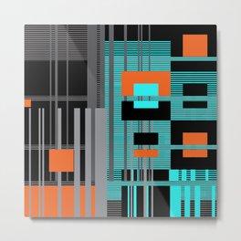 Bright Square Lines Metal Print