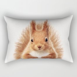Baby Squirrel, Baby Animals Art Print By Synplus Rectangular Pillow