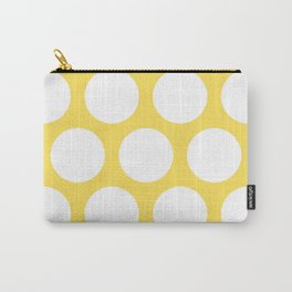 Large Polka Dots: Yellow Carry-All Pouch