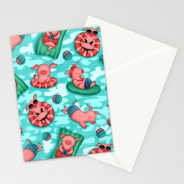 Summer Lovin' Pigs Stationery Cards
