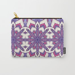 Flower Mandala Pattern Pink Lavender Carry-All Pouch