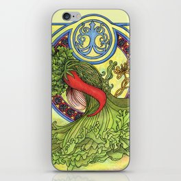 Art nouveau. Spices and vegetables iPhone Skin