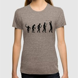 The Evolution Of Man And Golf T-shirt
