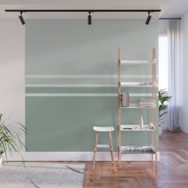 Lines Green Wall Mural