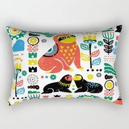 Scandinavian Sloths Rectangular Pillow