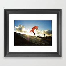 Skateboard FOX! Framed Art Print