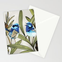 Blue Fairy Wren Stationery Cards