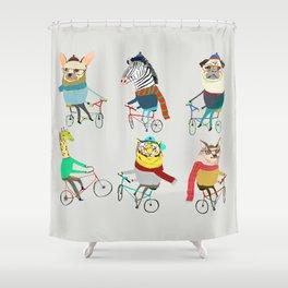 Bikers. Shower Curtain