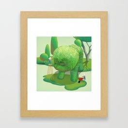 The Topiary Dog Framed Art Print