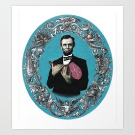 Abraham Lincoln with Ham Art Print