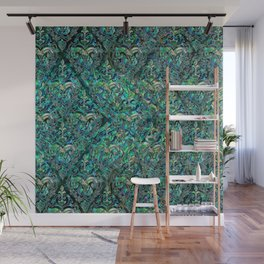 Persian Oriental pattern abalone and silver Wall Mural