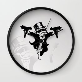 Monopoly Gangster Wall Clock