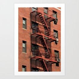 NYC Fire Escape Art Print