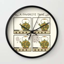 A Favorite Tune - Whistling Tea Kettle Wall Clock